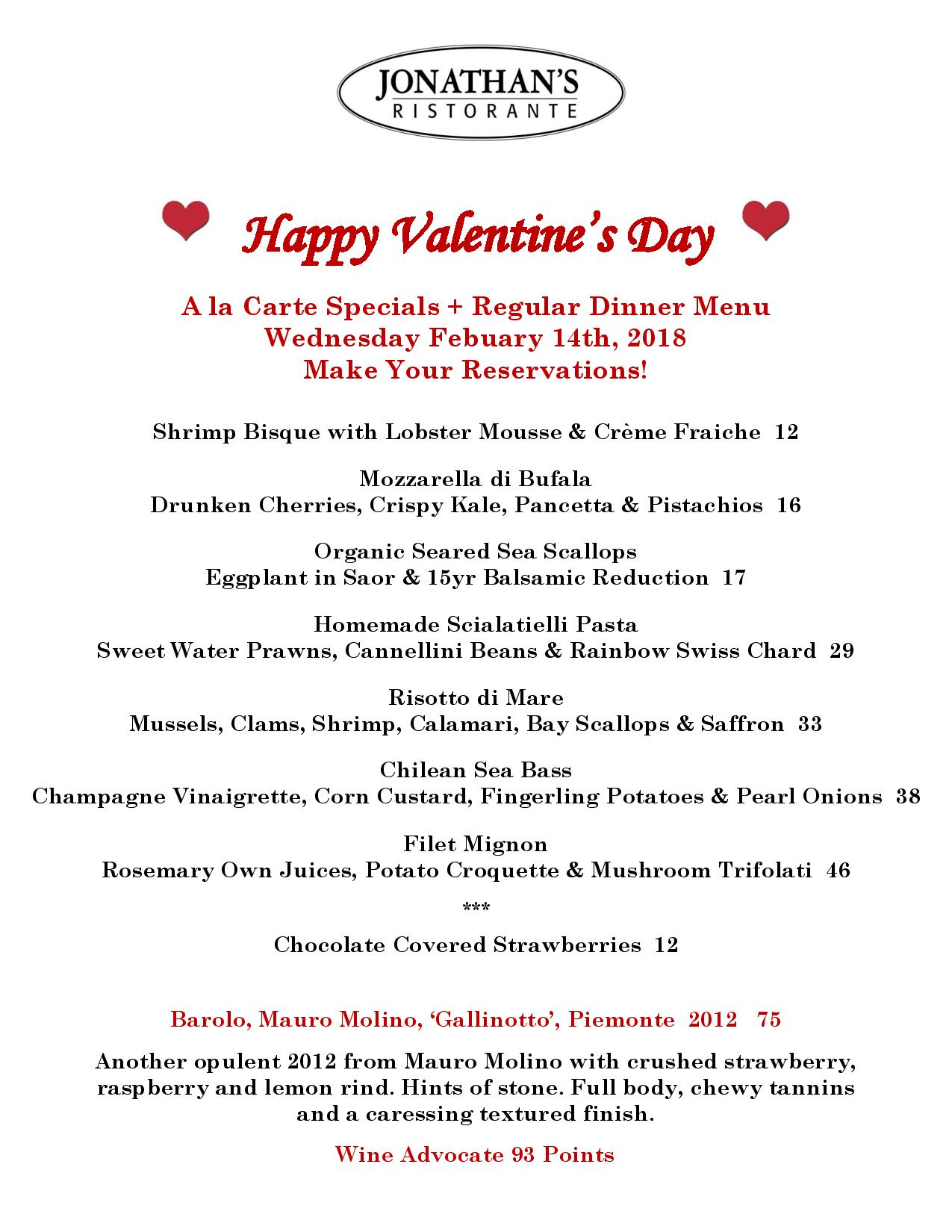 Valentine S Day In Huntington New York Jonathan S Ristorante
